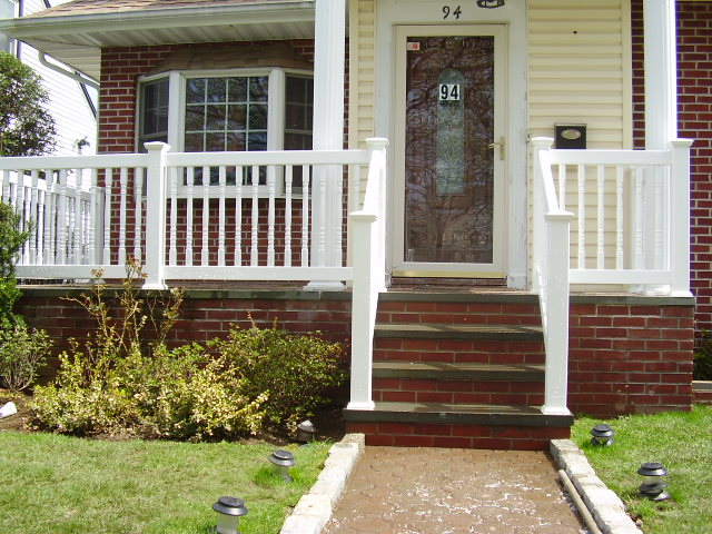 Pvc Railings Amp Handrails Double Virgin Vinyl Exterior