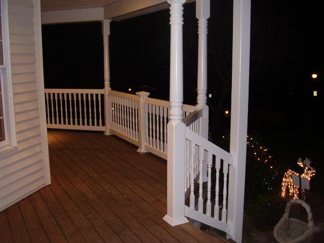 Outdoor Pvc Vinyl Railings Amp Handrails Liberty Fence