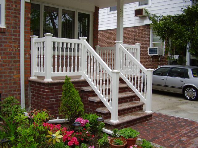 Outdoor Vinyl Railings Amp Exterior Pvc Handrails Liberty