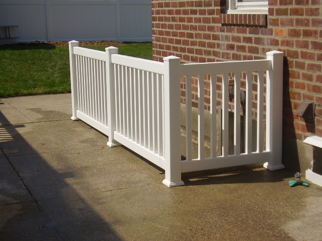 Outdoor Pvc Vinyl Railings Amp Handrails Liberty Fence