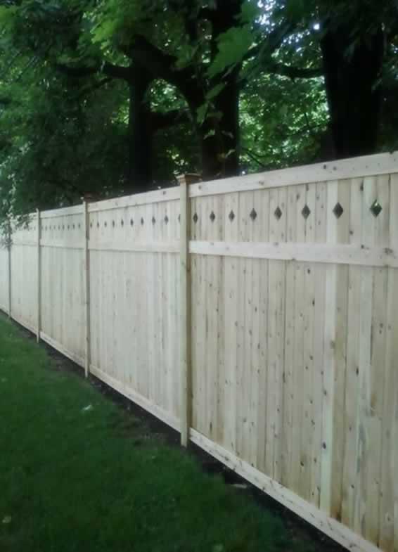 Custom Two Sided U201cUtahu201d Cedar Fence.