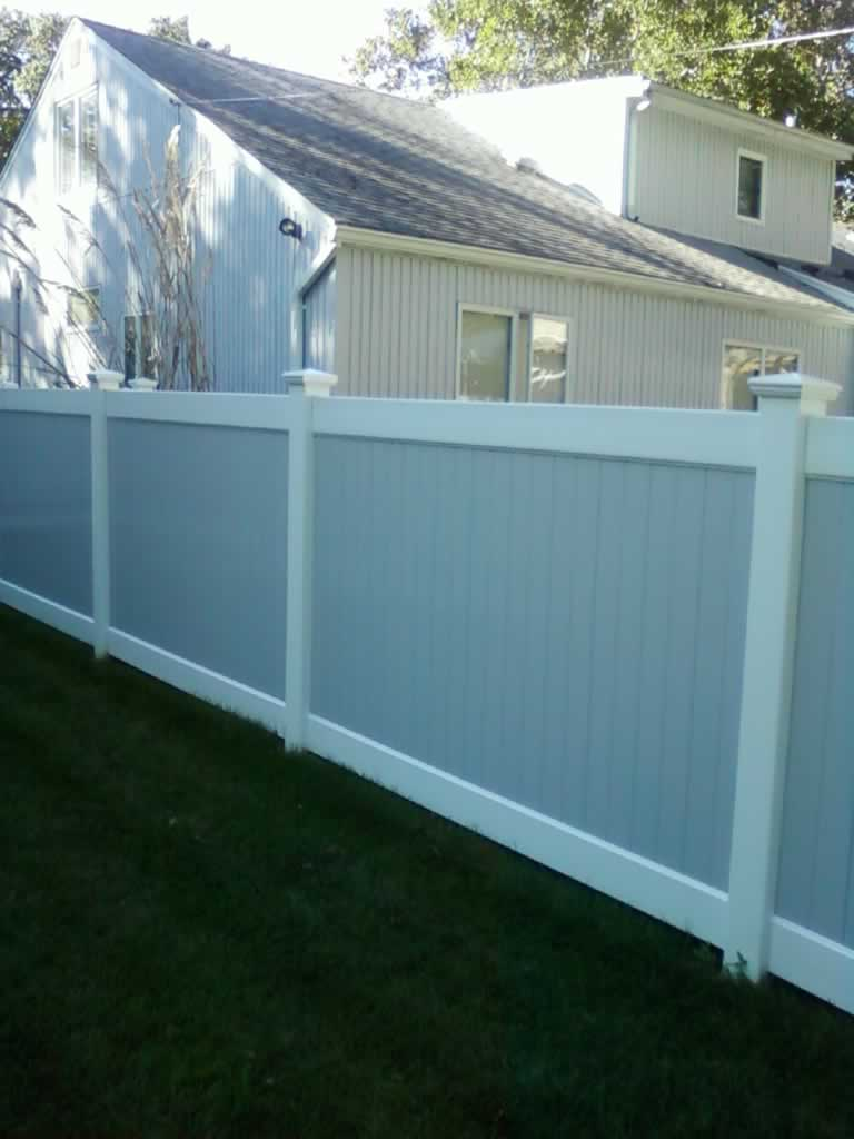 Two Tone Pvc Fences Double Virgin Vinyl Liberty Fence