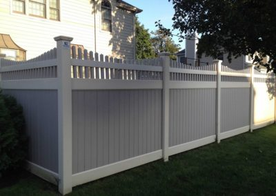 Two Tone Vinyl Pvc Fences Fence Gates Amp Railings