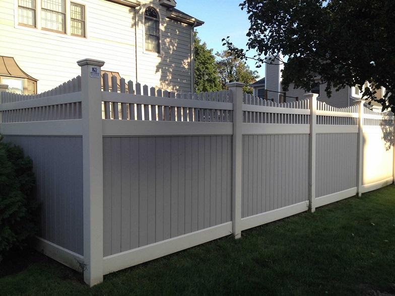 Two Tone Vinyl Pvc Fences Fence Gates Amp Railings