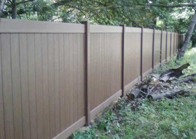 Embossed Wood Grain Vinyl Fences & Gates | Liberty Fence ...