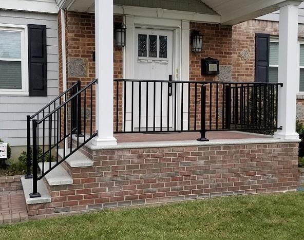 Outdoor Aluminum Railings Amp Handrails Liberty Fence
