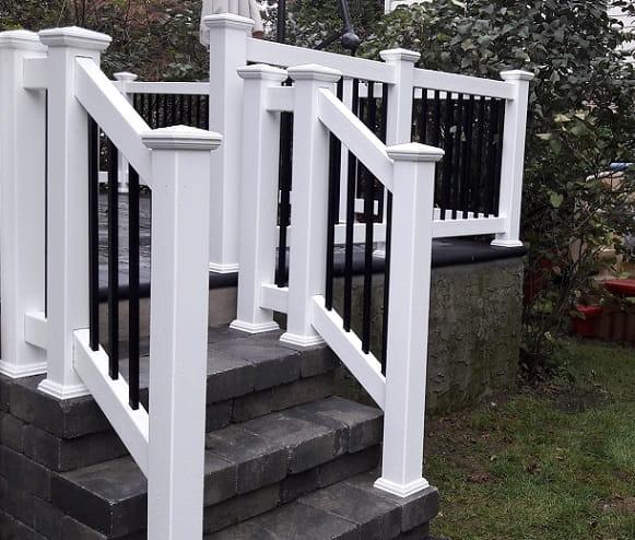 Outdoor Vinyl Pvc Aluminum Railings Liberty Fence Amp Railing