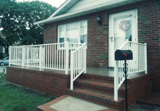 Outdoor Aluminum Railings & Handrails   Liberty Fence & Railing