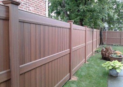 Wood Grain Vinyl Fences, Gates, & Railings | Liberty Fence ...